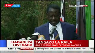 Raila Odinga narrates how IEBC Commissioners calculated the results given