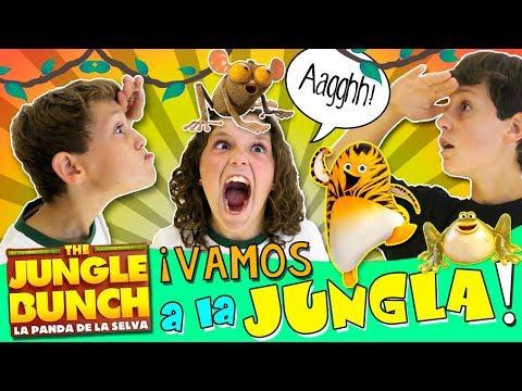 🐯 The JUNGLE BUNCH y la PANDA de YOUTUBERS! 🐯 Viaje Express a Madrid al PRE-ESTRENO de la PELÍCULA