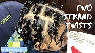 TODDLER BOY HAIRSTYLES 05    TWO STRAND TWISTS    #TODDLERHAIRSTYLES #BOYHAIRSTYLES #CANTU
