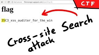 XS Search Abusing The Chrome XSS Auditor   Filemanager 35c3ctf