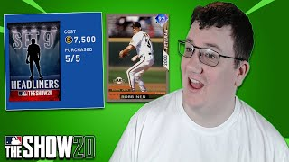 HEADLINERS SET 9 PACK OPENING | MLB The Show 20 Diamond Dynasty