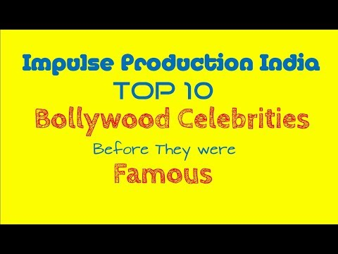 VOICEOVER /Host II Top 10 bollywood celebrities before they were famous