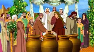 Jesus Turns Water Into Wine In The Wedding At Cana ( Bible Cartoon Stories For Kids In Malayalam )