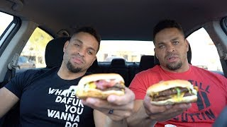 Eating Sonic SuperSONIC® Bacon Double Cheeseburger