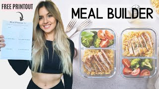 WEEKLY MEAL PLANNER TEMPLATE WITH MACROS / How To Make A MEAL PLAN With Macros 2020