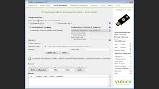 Programming the YubiKey with a Static Password