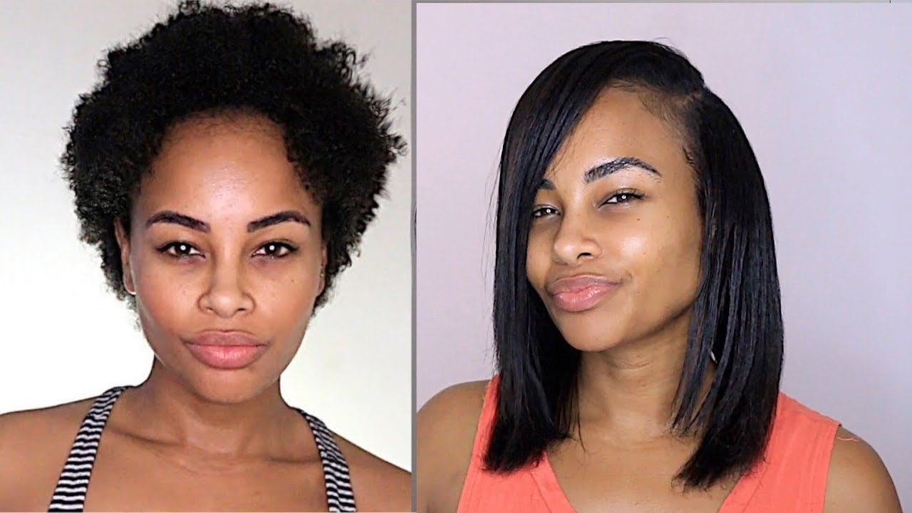 How I Silk Press My Natural Hair (NO Heat damage & NO Frizzy ends)