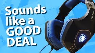 SADES A60 Spellond - CHEAP $50 USB Gaming Headset ► Unboxing, Review & Mic Test