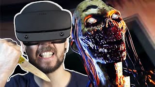 Fighting Zombies in VR is TERRIFYING   The Walking Dead Saints and Sinners VR #1