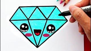 Cómo Dibujar Un Diamante Kawaii