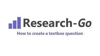 How to create a textbox question