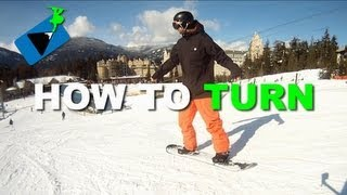 #10 Snowboard begginer – How to turn snowboard