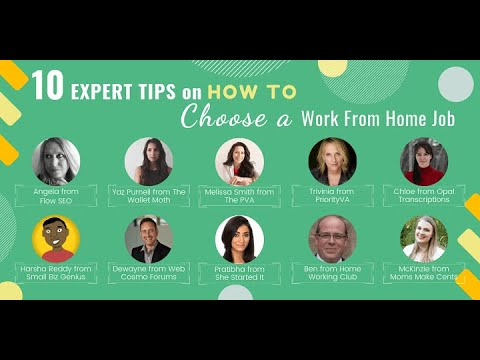 10 Expert Tips On How To Choose A Work From Home Job - YouTube
