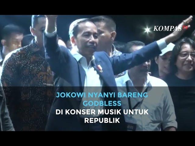Jokowi Nyanyi Bareng GodBless di Konser Musik untuk Republik Setelah Dilantik