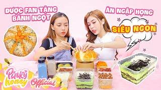 Ăn Ngập Miệng Với Bánh Ngọt Fan Tặng | Pinky Không Nói Nên Lời | PINKY HONEY