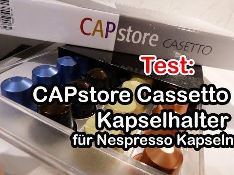Test: Capstore Cassetto Kapselspender für Nespresso Kapseln