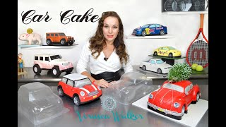 3D Car Cake With Clear Body Shell