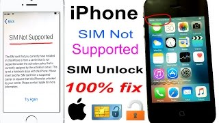 how to unlock any network SIM Not Supported iPhone 100% FIX 2021 [4K] ✅ Done!!