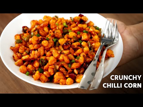 , title : 'Crispy Corn Chilly - Restaurant Style Crunchy Corn Pepper Recipe - CookingShooking