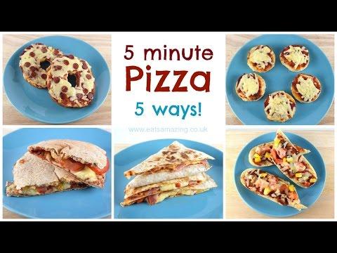 Easy Homemade Pizza Recipe - Five Ways!