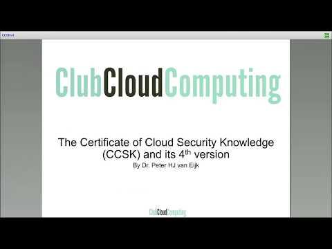 CCSK (v4) overview webinar - YouTube