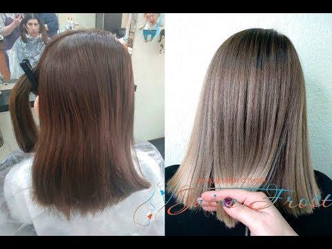 Урок по колористике | Растяжка цвета на кавказских волосах