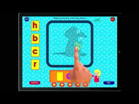 Screenshot of video: Phonic Vowels App