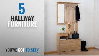 Top 10 Hallway Furniture [2018]: Cherry Tree Furniture Oak Colour Hall Tree Coat Stand Shoe Storage