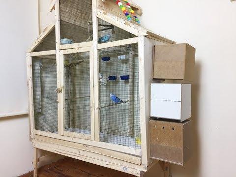 Muhabbet Kuşu Salma Kafese Yuvalık Taktım