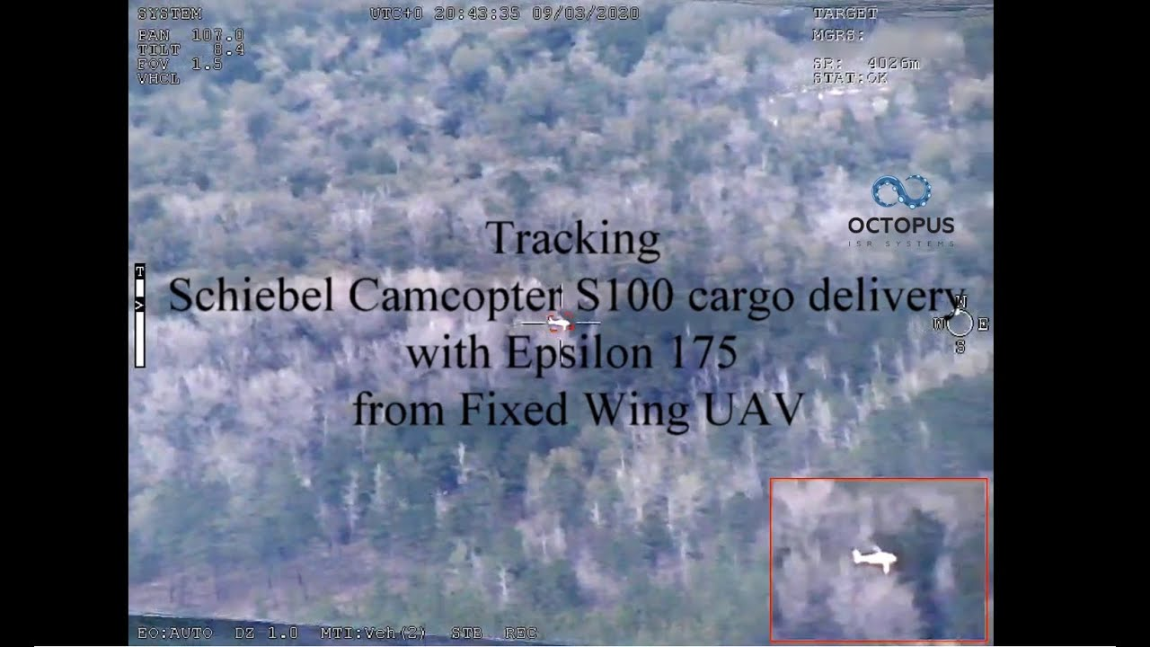 Cargo delivery tracking with Epsilon 175 installed on Penguin C UAV