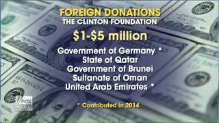 Increase in foreign donations to Clinton Foundation