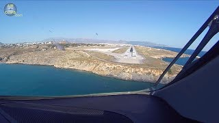 Airbus A220 Pilot's View! Lovely Heraklion Landing (Crete, Greece) [AirClips]