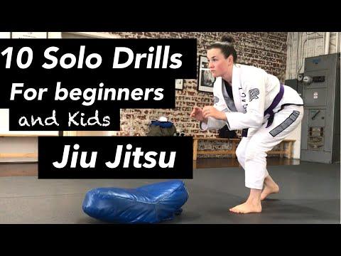 10 SOLO JIUJITSU DRILLS- For beginners and kids!
