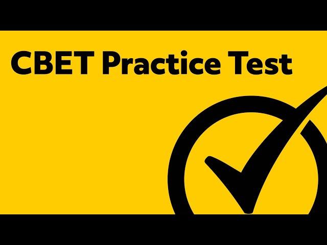 Free Cbet Practice Test Questions Prep For The Cbet Test