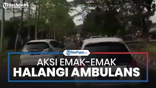 Viral Video Mobil Putih Mengalangi Laju Ambulans di Tangerang, Ternyata Sopirnya Emak-emak