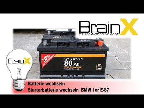 BMW 1er BATTERIE WECHSELN - Autobatterie Starterbatterie E81 E87 E82 E88 F20 F21 [Tutorial]