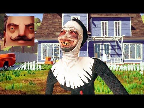 HELLO NEIGHBOR EVIL NUN - My New Neighbor EVIL NUN Act 1 Gameplay Walkthrough