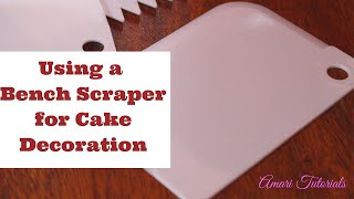 How to use a Plastic Bench Scraper for Cake decoration | How to get smooth sides when decorating