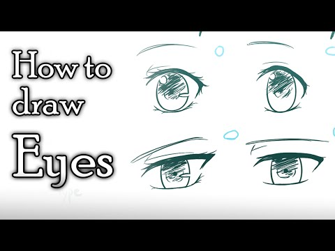 How to draw Anime eyes - 4 different styles [Voice-over Tutorial]