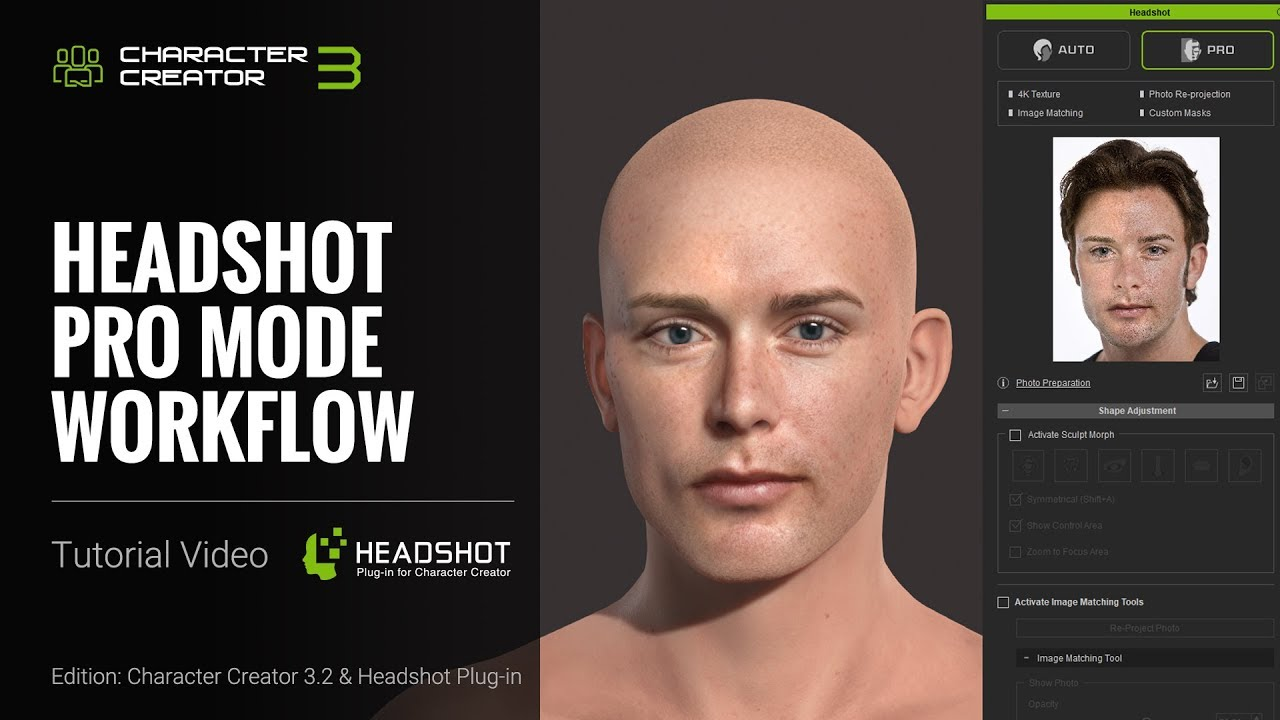 Headshot Plug-in Tutorial - Pro Mode Workflow