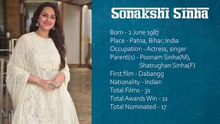 Sonakshi Sinha | Movie List | Bollywood Actress | Indian Cinema