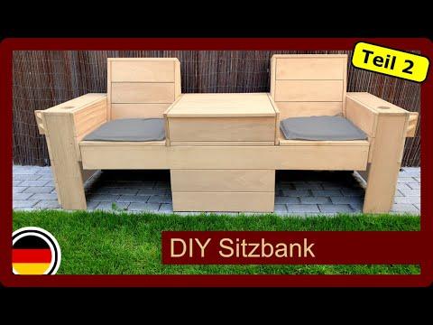 Sitzbank mit klappbaren Tisch für den Garten selber bauen | DIY | Gartenmöbel | TEIL2