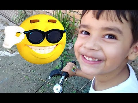 Sam Ride Bicycle on busy street First Time! Kids Playtime !! (Sams Review)