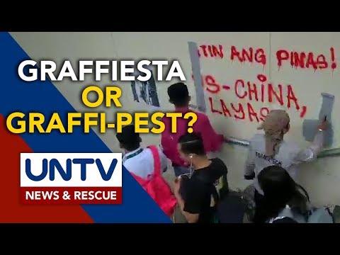 [UNTV]  Mayor Isko slams Panday Sining for vandalizing newly painted Lagusnilad under pass