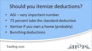 Should you itemize deductions?