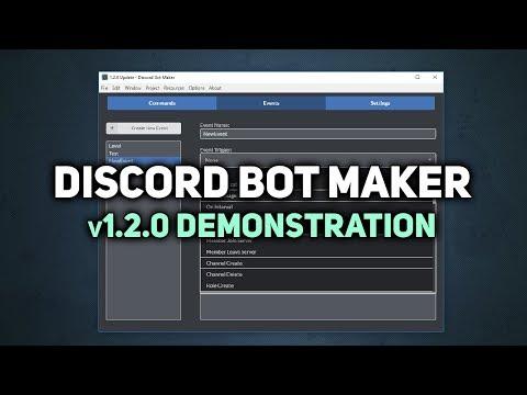 Discord Bot Maker :: Discord Bot Maker v1 2 0