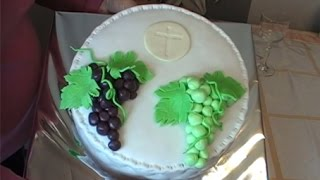 First Communion Cake Fondant Decoration
