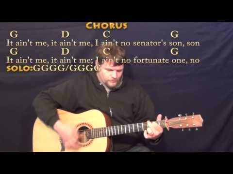 Fortunate Son (CCR) Strum Guitar Cover Lesson with Chords/Lyrics