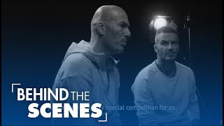 David Beckham and Zidane talk before the Champions League Final | Kholo.pk