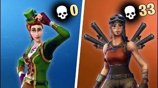 0 KILL WINNER vs 33 KILL WINNER in Fortnite